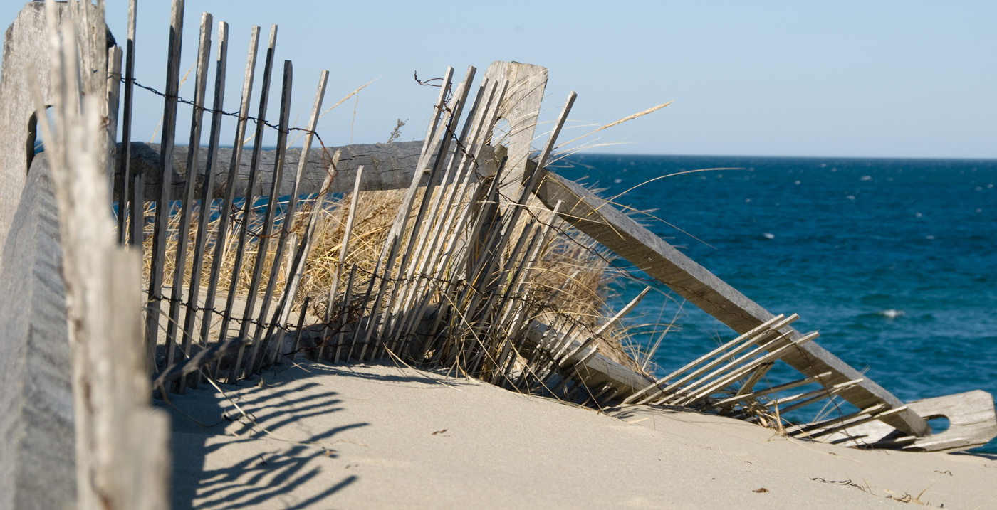 New England beach fence