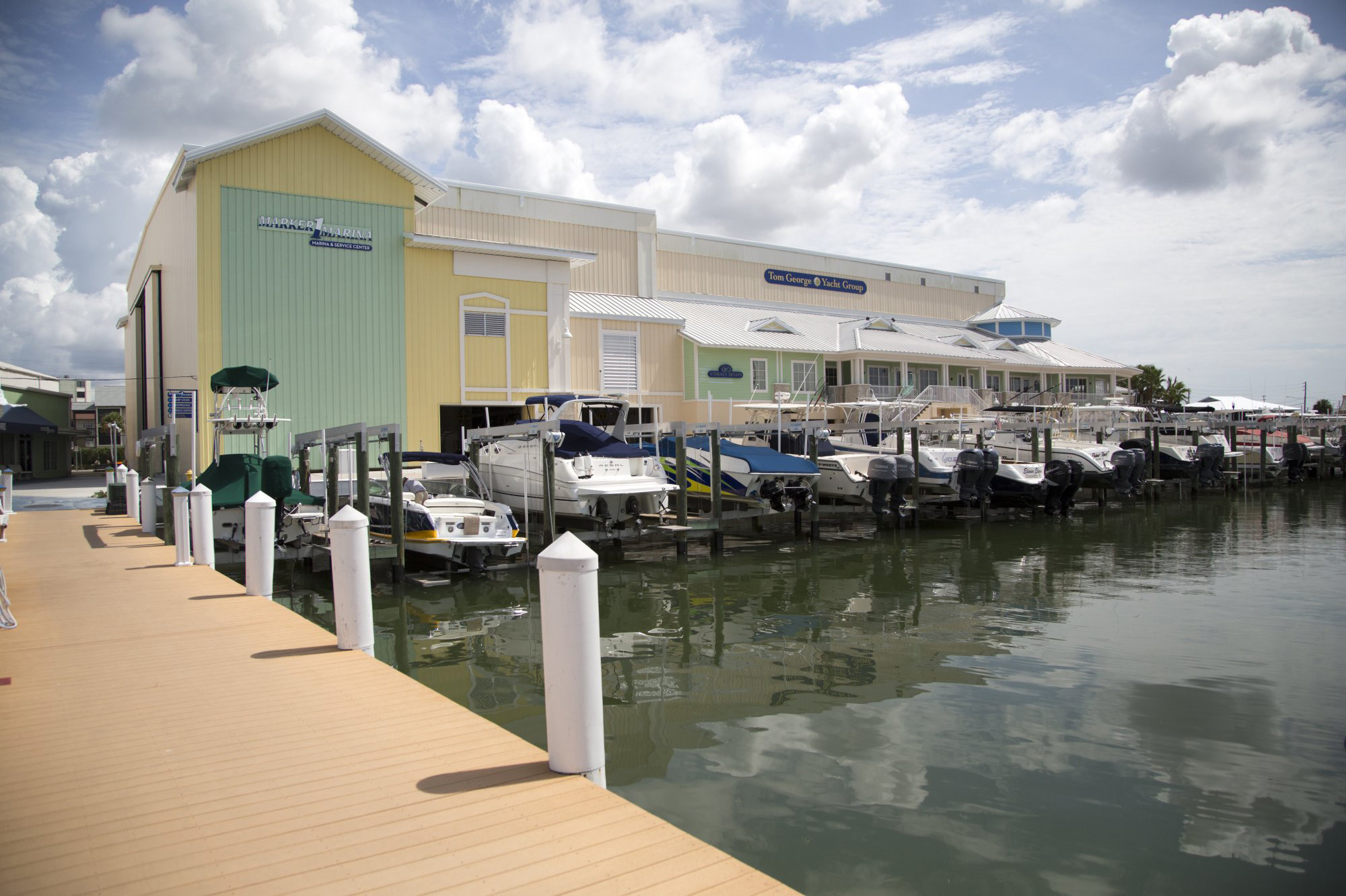 Tom George Marina front dock